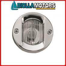 2111607 FANALE POPPA ROUND WHITE LED INOX Fanale di Poppa Round (CE)