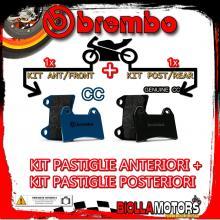 BRPADS-50051 KIT PASTIGLIE FRENO BREMBO BETA 4.0 MOTARD 2004- 350CC [CC+GENUINE] ANT + POST