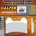 FD176G1375 PASTIGLIE FRENO GALFER SINTERIZZATE ANTERIORI MZ/MuZ 1000 S 01-