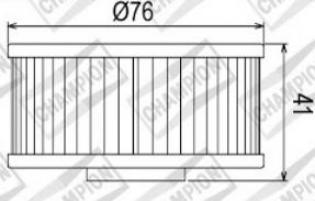 100609645 COF044 FILTRO OLIO YAMAHA FZR400 R EXUP MK1,MK21WGJapan88-89 (X306)