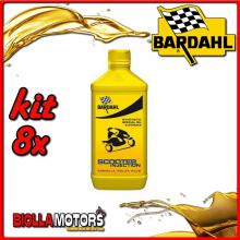 KIT 8X LITRO OLIO BARDAHL SCOOTER INJECTION E CARBURATORE LUBRIFICANTE PER SCOOTER 2T 1LT - 8x201041