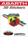 21530 ADESIVO 3D STICKERS SCUDETTO FOLGORE ABARTH 50MM