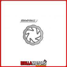 6591240XSP DISCO FRENO ANTERIORE SX NG BMW G X 450CC 2008/2012 1240XSP