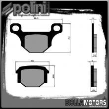 174.0187 PASTIGLIE FRENO POLINI POSTERIORE MOTORHISPANIA RX 50CC 2008- ORGANICA