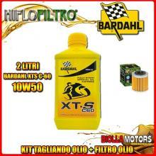 KIT TAGLIANDO 2LT OLIO BARDAHL XTS 10W50 HUSQVARNA SM450 R 450CC 2008-2010 + FILTRO OLIO HF563