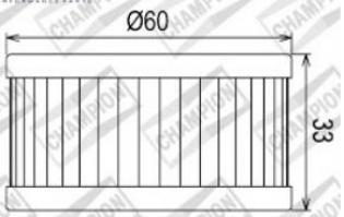 100609455 COF036 FILTRO OLIO SUZUKI GN250 SZ, EZ, D, F, J, M, N, P, R, S, T, VNJ42A 82-00 (X319)