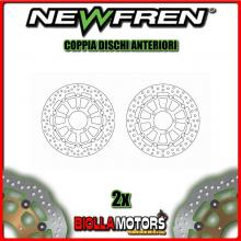 2-DF5272AF COPPIA DISCHI FRENO ANTERIORE NEWFREN KAWASAKI ZX-10R 1000cc NINJA 2008-2010 FLOTTANTE