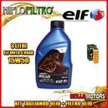 KIT TAGLIANDO 3LT OLIO ELF MOTO 4 ROAD 15W50 KTM 400 EXC 400CC 2008-2011 + FILTRO OLIO HF652