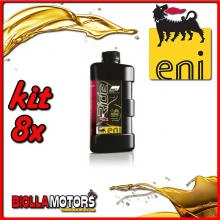 KIT 8X LITRO OLIO ENI I-RIDE RACING 5W40 TOP SYNTHETIC - 8x E528991