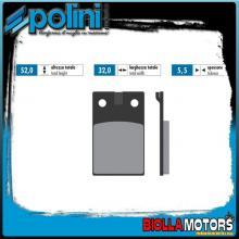174.0013 PASTIGLIE FRENO POLINI ANTERIORE MALAGUTI ciclomotori 50 all models 50CC -1983 ORGANICA