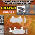 FD187G1054 PASTIGLIE FRENO GALFER ORGANICHE ANTERIORI GENERIC ZION 125 08-