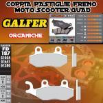 FD187G1054 PASTIGLIE FRENO GALFER ORGANICHE POSTERIORI DERBI DXR 250 04-