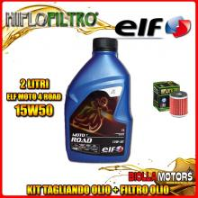 KIT TAGLIANDO 2LT OLIO ELF MOTO 4 ROAD 15W50 HUSQVARNA SMR125 4T 125CC 2012- + FILTRO OLIO HF140