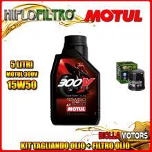 KIT TAGLIANDO 5LT OLIO MOTUL 300V 15W50 KAWASAKI VN1700 DBF Vulcan Classic Tourer (ABS) 1700CC 2011-2014 + FILTRO OLIO HF303