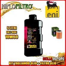 KIT TAGLIANDO 5LT OLIO ENI I-RIDE 10W60 TOP SYNTHETIC APRILIA ETV 1000 Caponord 1000CC 2001-2008 + FILTRO OLIO HF152