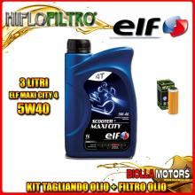 KIT TAGLIANDO 3LT OLIO ELF MAXI CITY 5W40 KTM 400 EXC 400CC 2008-2011 + FILTRO OLIO HF652
