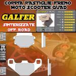 FD075G1396 PASTIGLIE FRENO GALFER SINTERIZZATE ANTERIORI TGB QUADBLADE 400 06-
