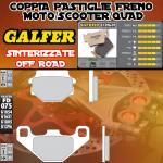 FD075G1396 PASTIGLIE FRENO GALFER SINTERIZZATE POSTERIORI MZ/MuZ BAGHIRA 00-