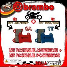 BRPADS-5916 KIT PASTIGLIE FRENO BREMBO MOTO MORINI GRANPASSO 2008- 1200CC [SA+TT] ANT + POST