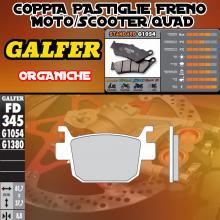 FD345G1054 PASTIGLIE FRENO GALFER ORGANICHE POSTERIORI HONDA SH 125 i SCOOPY (D-D) 09-12