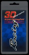 384 ADESIVO 3D SYMBOL SUPERDETTAGLIATO - RACING NERO