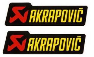 16573 STICKERS PER ALTE TEMPERATURE AKRAPOVIC