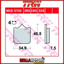MCB721SV PASTIGLIE FRENO ANTERIORE TRW Aprilia RSV 1000 Mille 2001-2003 [ORGANICA- ]