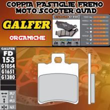 FD153G1054 PASTIGLIE FRENO GALFER ORGANICHE ANTERIORI MALAGUTI F 18 WARRIOR 00-03