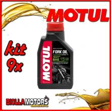 KIT 9X LITRO OLIO MOTUL FORK OIL EXPERT MEDIUM/HEAVY 15W FORCELLA - 9x 105931