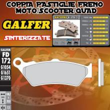 FD172G1370 PASTIGLIE FRENO GALFER SINTERIZZATE POSTERIORI TRIUMPH THUNDERBIRD STORM 1700 11-