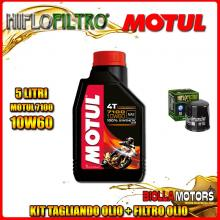 KIT TAGLIANDO 5LT OLIO MOTUL 7100 10W60 KAWASAKI VN1700 DBF Vulcan Classic Tourer (ABS) 1700CC 2011-2014 + FILTRO OLIO HF303