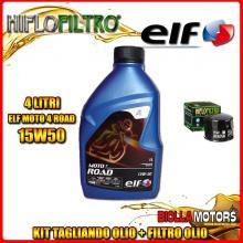KIT TAGLIANDO 4LT OLIO ELF MOTO 4 ROAD 15W50 HUSQVARNA 900 Nuda 900CC 2011-2014 + FILTRO OLIO HF160