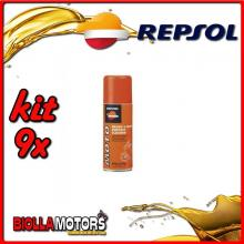 KIT 9X 400ML REPSOL MOTO BRAKE & PARTS CONTACT CLEANER 400ML - 9x REPSOL71