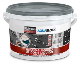 1139781 RUBSON AQUABLOCK LÍQUIDO SILICÓN GRIS 5 kg