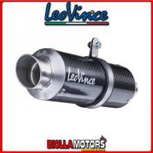 8760 TERMINALE LEOVINCE HONDA CB 500 F/X 2013-2015 GP CORSA CARBONIO/INOX