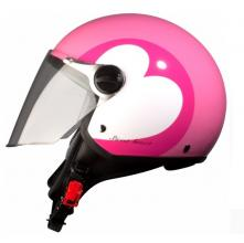 937768 CASCO JET LOVE ROSA TAGLIA XS (FASHION 710)