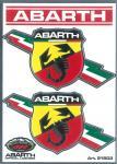21503 ADESIVO ABARTH RACING TABS 2 SCUDETTI FOLGORE