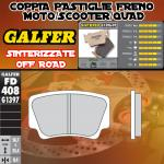 FD408G1397 PASTIGLIE FRENO GALFER SINTERIZZATE POSTERIORI KTM 525 XC 08-