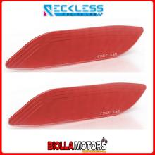 Y02TS01XR COPPIA TAPPI SPECCHIETTI RECKLESS ROSSO YAMAHA XP530D-A T-MAX T MAX TMAX DX 530 2017 SCOOTER