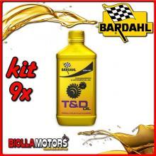 KIT 9X LITRO OLIO BARDAHL T&D GEAR OIL 80W90 LUBRIFICANTE BARDAHL PER TRASMISSIONI INGRANAGGI 1LT - 9x 421140