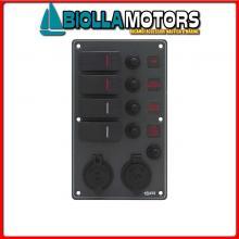 2102752 PANNELLO C7/IP66 4P ALU BL BAT+USB AV< Pannelli C7-IP66 Socket Black