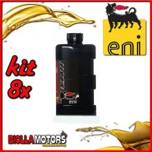 KIT 8X LITRO OLIO ENI KART 2T TOP SYNTETIC - 8x E141991