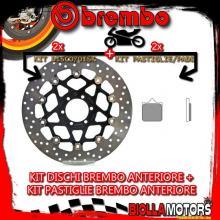KIT-6IWZ DISCO E PASTIGLIE BREMBO ANTERIORE KTM SUPERMOTO 950CC 2005- [GENUINE+FLOTTANTE] 78B408A7+07BB3396