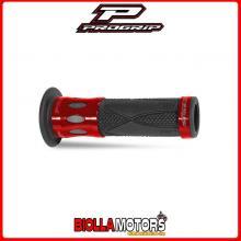 405402755 COPPIA MANOPOLE PROGRIP 728-OE-107 Scooter, Rosso, Inserti in Alluminio, Con Foro