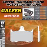 FD331G1054 PASTIGLIE FRENO GALFER ORGANICHE ANTERIORI VICTORY CORY NESS CROOS COUNTRY 11-