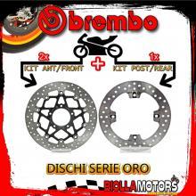 BRDISC-4261 KIT DISCHI FRENO BREMBO MV AGUSTA F4 R 2010-2013 1000CC [ANTERIORE+POSTERIORE] [FLOTTANTE/FISSO]