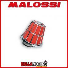 047729.K0 FILTRO ARIA MALOSSI E5 CON D. 43 HUPPER MONTECARLO 30 50 2T (1E40QMB) PER CARBURATORI PHBL 25 CROMATO -