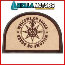 5801900 MB WELCOME TAPPETO 70X50 ROUND BROWN Tappeto Round Board Brown