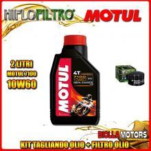 KIT TAGLIANDO 2LT OLIO MOTUL 7100 10W60 PIAGGIO 400 Beverly i.e. 400CC 2006-2008 + FILTRO OLIO HF184