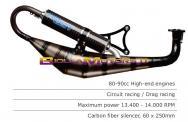 RST.194 SCARICO ROOST MOTORI MINARELLI ORIZZONTALE 94cc
